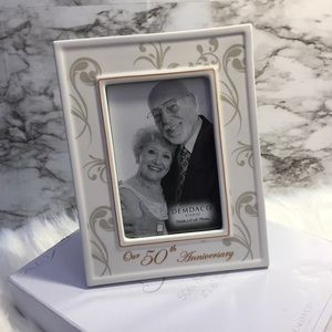 Other - Porcelain 50th Anniversary Frame. New in box.